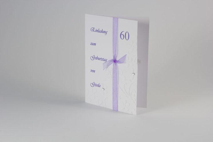 Einladung Geburtstag 60