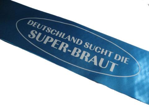 Schaerpe blau Deutschland sucht die Superbraut